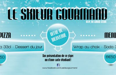 Flyer pizzeria Le skieur Gourmand (Alpe du Grand Serre)