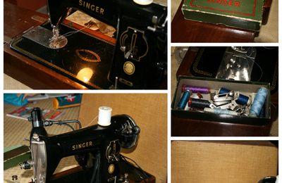 A vendre Machine à coudre Singer électrique des années 30