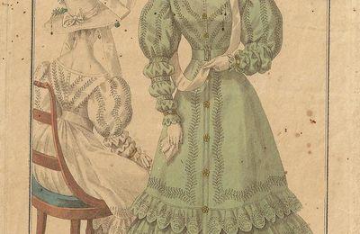Gravures de mode anciennes : le Petit Courrier des Dames