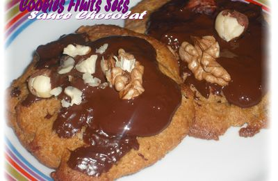 COOKIES FRUITS SECS - SAUCE CHOCOLAT