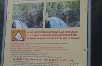 Interdiction du canyon de Barberine