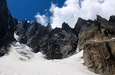 the Scissor peak in Chamonix