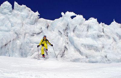Ski hors-piste sur le glacier de Toule