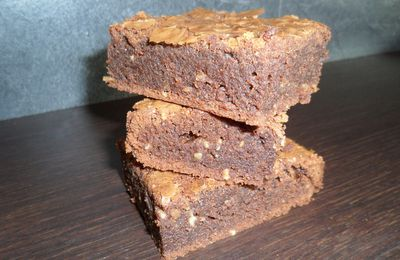 Brownies chocolat orange aux noisettes
