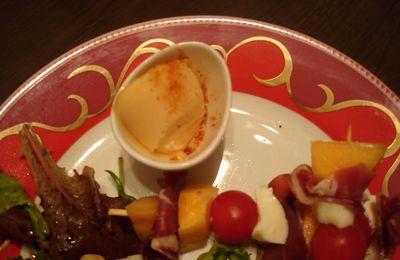 """Glace """"maison"""" au melon et piment d'Espelette"""