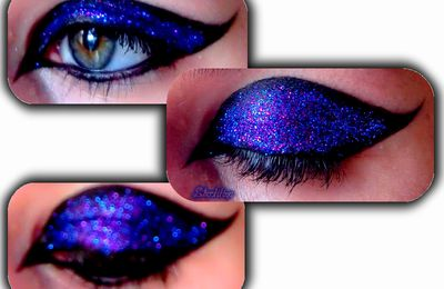 Make up - paillettes violettes PB Cosmetics