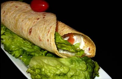 Wraps au saumon