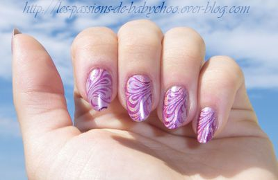 Faux water marble