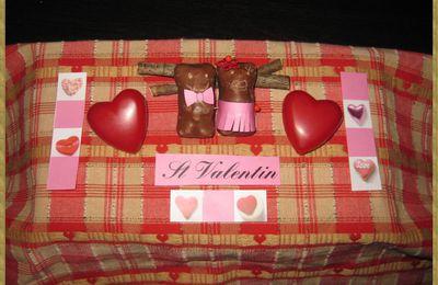 * St-Valentin et pliage de serviette coeur *