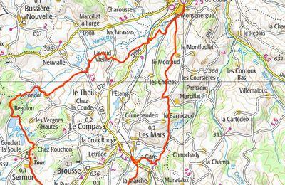 Auzances -Sermur (Creuse): balade 26 kms le 31/08/2013