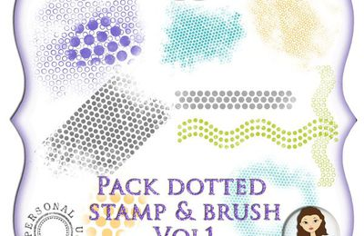 Dotted Stamp and brush - JillCreation