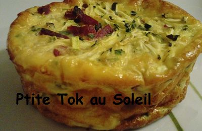 Flans courgette-canard