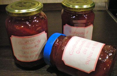 CONFITURE DE QUETSCHES .......