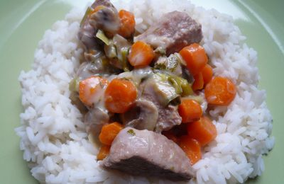 Blanquette de veau - Veal stew with cream and vegetables