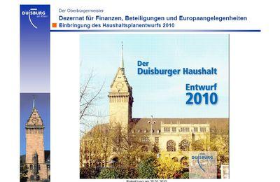 A Duisbourg, 250 millions d'euro de déficit en 2010