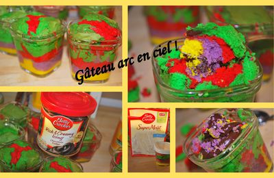 "LE ""RAINBOW CAKE IN A JAR"" DE MAMAN CALINE"