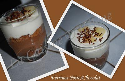 VERRINES POIRES/CHOCOLAT