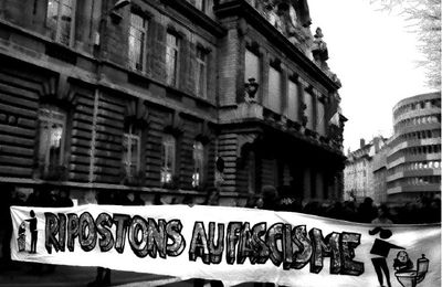 Manifestation contre le local néo-naze à Lyon le 9/04/2011