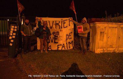 Des soutiens d'Abdallah manifestent leur solidarité avec les Fraisnor en lutte