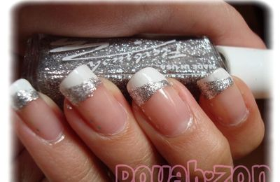 French blanche + diagonal silver