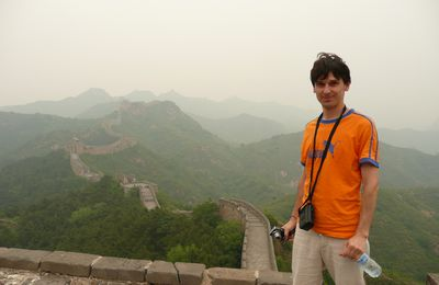 PHOTO 98 : VINCENT SUR LA MURAILLE (CHINE)