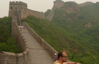 PHOTO 99 : CLEM SUR LA MURAILLE (CHINE)