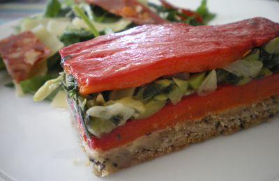 Tarte aux poivrons farcis, aux fèves et aux herbes - Atelier cuisine d'Hélène B.