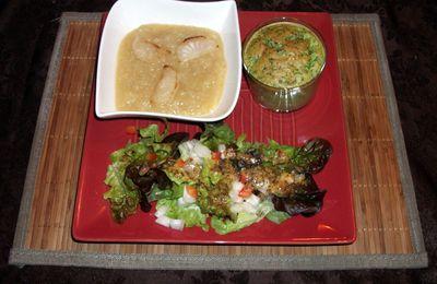 Assiette végétarienne et sa salade au vinaigre de mangue