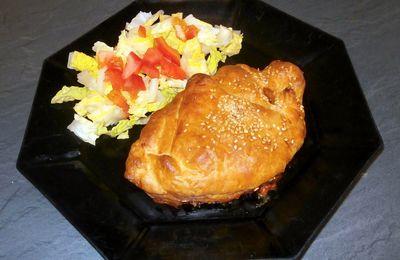 Feuilleté au poulet et saté
