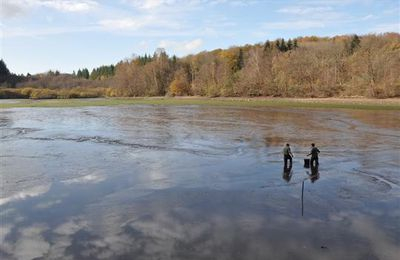 Vidange de l'étang des Cloix