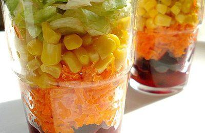 salade composée en verrines