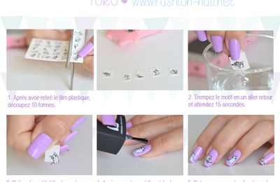 Nail art facile - Hello Kitty (water decals) + Concours Express + Résultats