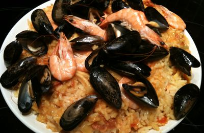 Risotto aux fruits de mer et chorizo (au thermomix)