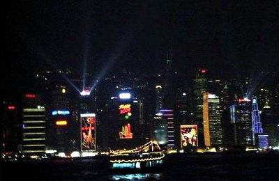 Light Show sur la Baie de Hong Kong