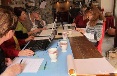 Séance de travail...Cours sur la gestion de notre blog