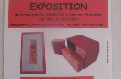 Notre 1ère exposition de travaux créatifs !