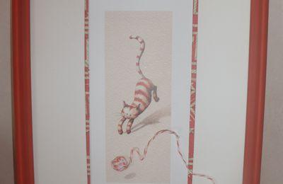 Chat et la pelote de laine