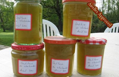 CONFITURE DE RHUBARBE COOK'IN