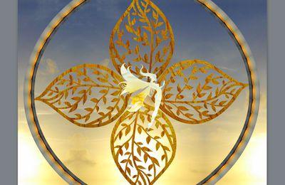 Mandala : belle fée d'or