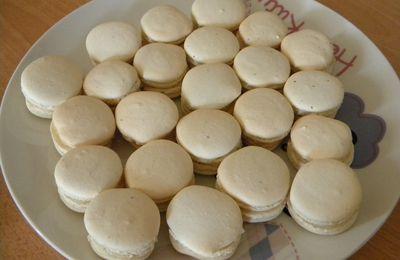 Macarons pistache et noix coco.