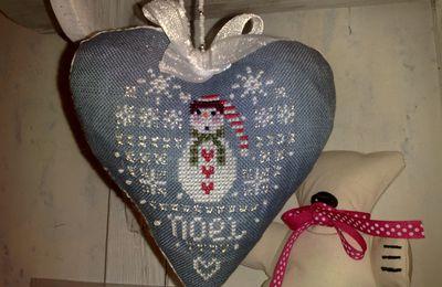Carméla's mania coeur de Noël finitionné...