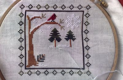 January, sampler months Little House Needleworks
