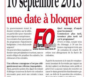 Le 10 septembre 2013: Une date à retenir ...