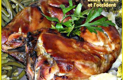 Cuisses de poulet roti à la sauce de soja