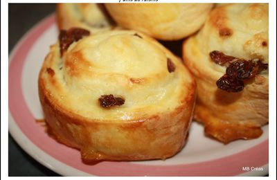 Pains au raisins thermomix