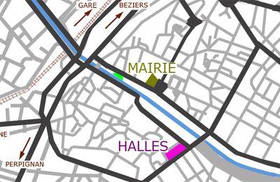 halles de Narbonne : Plan de la ville