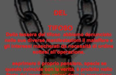 Tessera del Tifoso dichiarata illegittima