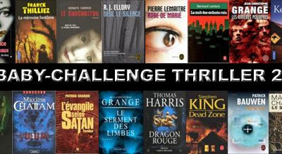 Baby Challenge de Livraddict - Spécial thriller
