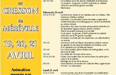 Marché Gourmand et Foire au Cresson de Méréville
