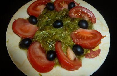 salade de poivrons verts